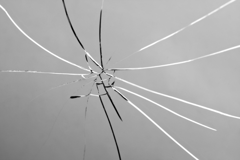 Broken and Shattered Glass Pane